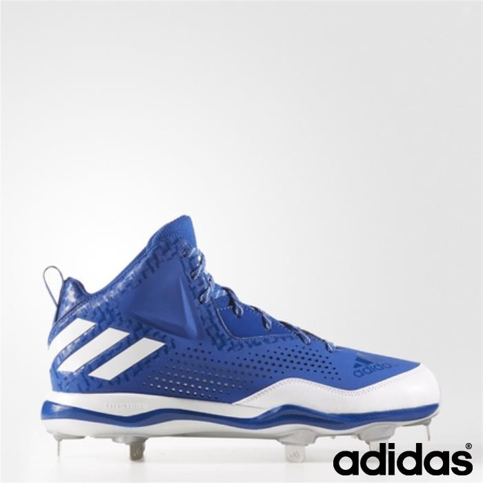 Adidas Poweralley Efficacemente 4 Mid Tacchetti (collegiale Royal / Running / Silver) Bianco Metallizzato Defhnr1258