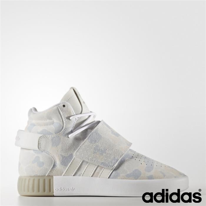 Adidas Tubular Invader Strap Shoes (running White Ftw / Running White Solid Aggiornamento Light / Gray) Bpsvwz2456