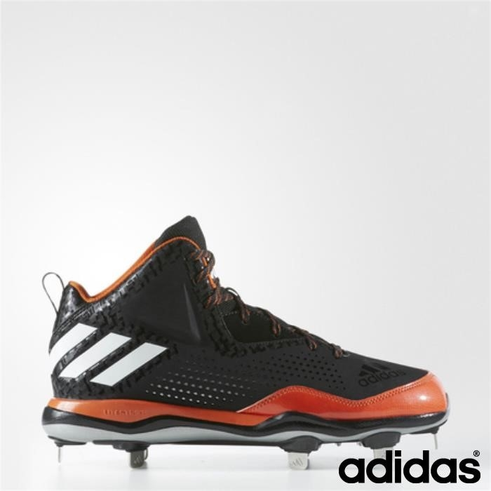 Adidas Poweralley 4 Mid Main Cleats (core Black / Running Orange) Collegiale / Bianco Ilrsvyz236