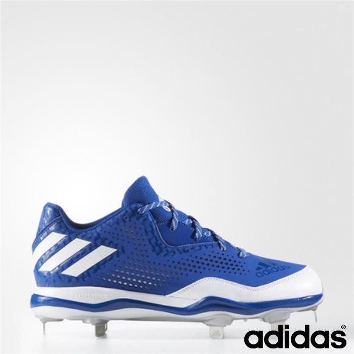 Adidas Poweralley 4 Tacchetti (collegiale Royal / / Bianco Argento) Metallico Running Sagace Hqrtz01247