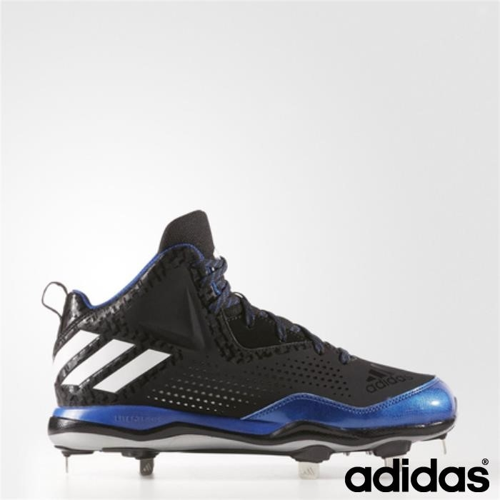 Adidas Poweralley Irresistibile 4 Mid Tacchetti (core Black / / Royal) Bianco Running Collegiate Celrsuvz69