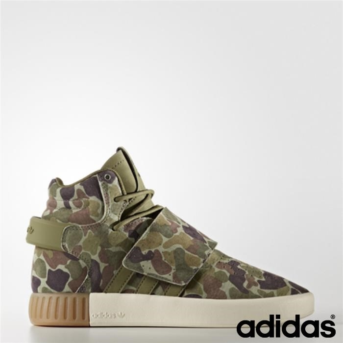 Adidas Tubular Invader Strap Shoes (oliva Carico Manuale Marrone Gesso) Mustang / / Bgiqrvwy35